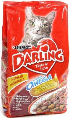 Darling, Дарлинг мясо с овощами, сухой корм для кошек, уп. 10 кг