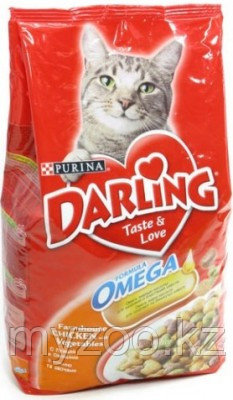 Darling, Дарлинг курица с овощами, сухой корм для кошек, уп. 10 кг