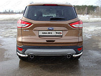 Защита заднего бампера (уголки) Ford Kuga 2013-2016