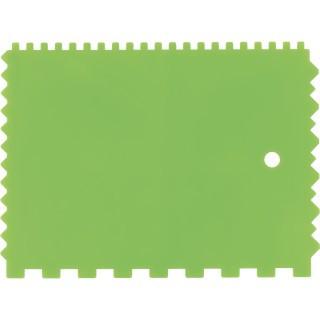 Шпатель для клея, пластмассовый, зубчатый 130х170 мм/ СИБРТЕХ