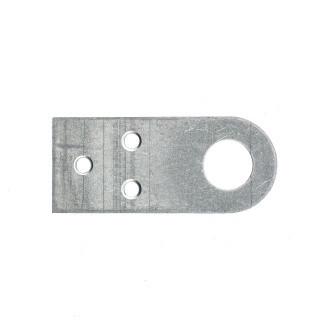 Проушина прямая цинк 2,0 мм, 75х40 мм/ СИБРТЕХ