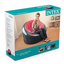 Надувное кресло Intex 68581 Красный (Габариты: 112 х 109 х 69 см), фото 3