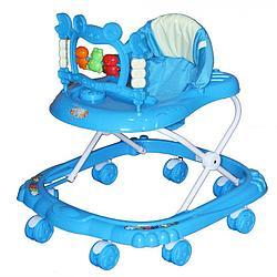 BAMBOLA Ходунки КРАБ (8 колес,игрушки,муз) 6 шт в кор.(64*58*64) BLUE голубой