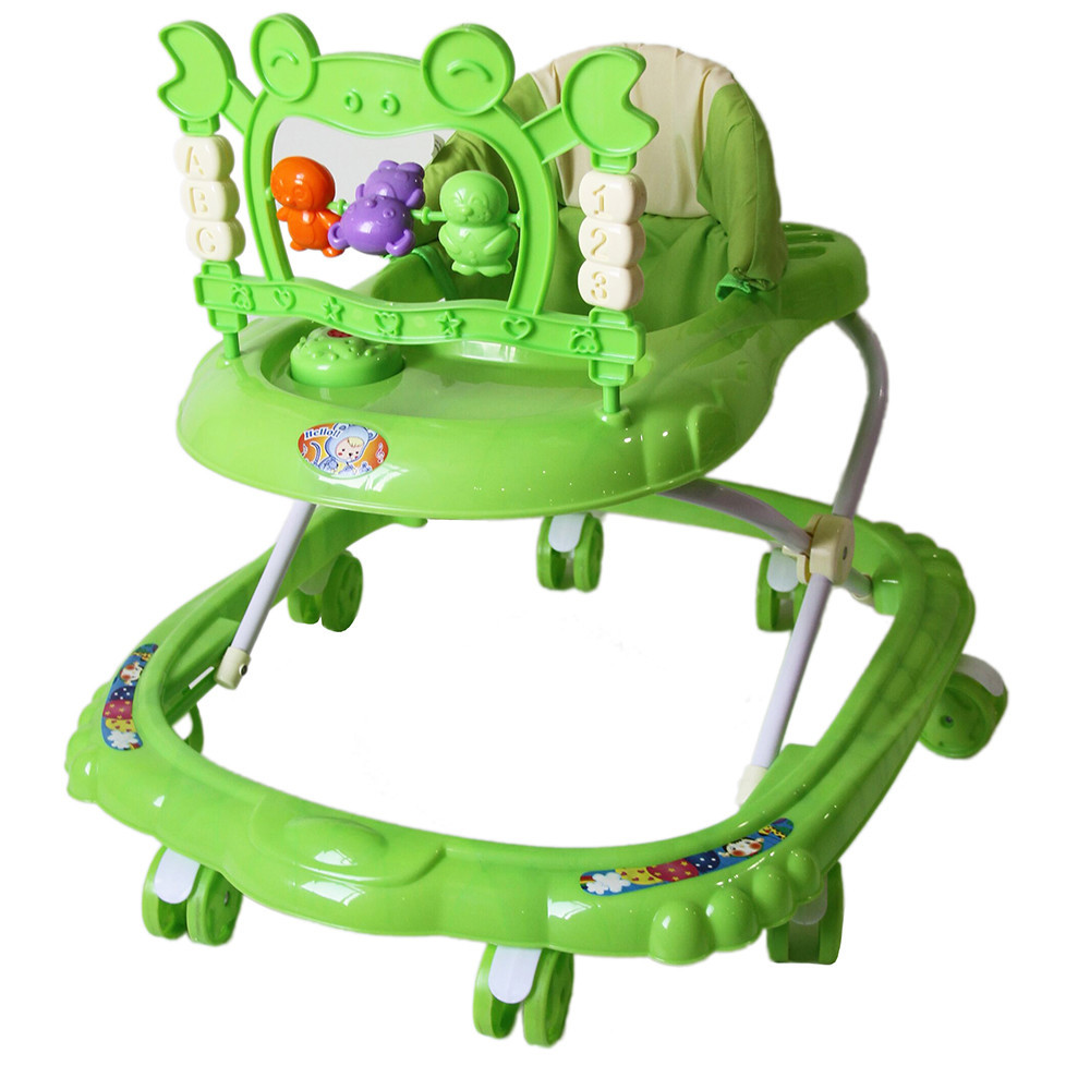 BAMBOLA Ходунки КРАБ (8 колес,игрушки,муз) 6 шт в кор.(67*60*48) GREEN зеленый