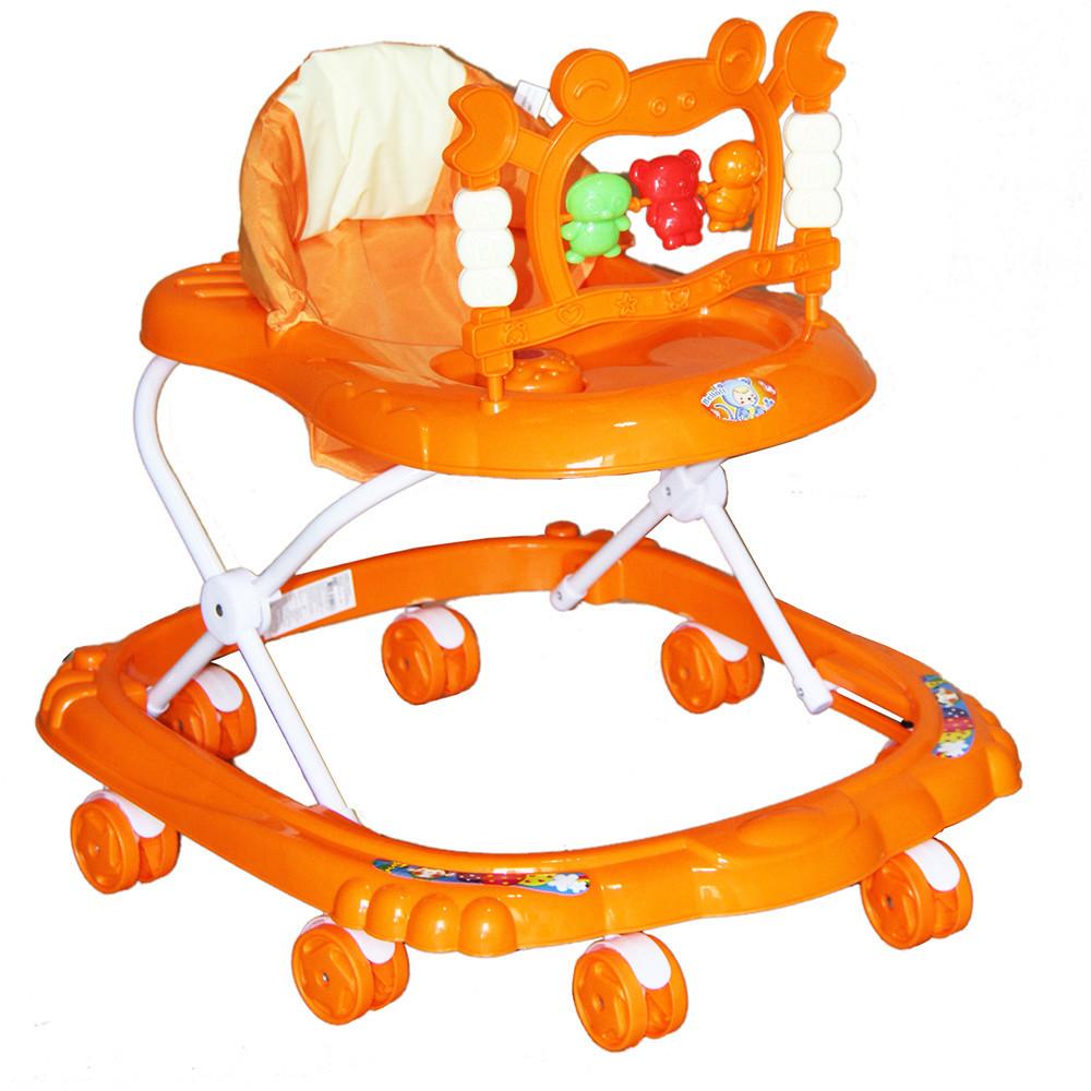 BAMBOLA Ходунки КРАБ (8 колес,игрушки,муз) 6 шт в кор.(67*60*48) ORANGE оранжевый
