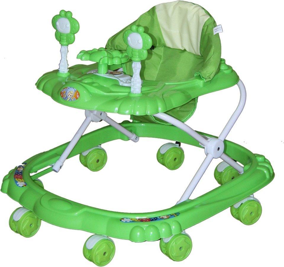 BAMBOLA Ходунки КРАБИК (8 колес,игрушки,муз) 6 шт в кор.(66*56*47) GREEN зеленый