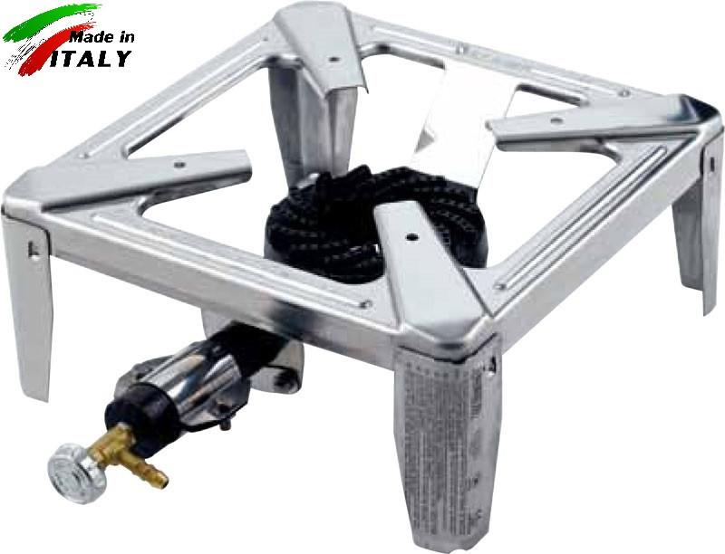 Горелка - плита газовая настольная OMAC 235 Drago Inox, нержавеющяя сталь