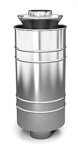 Каменка натрубная ЛЕЙДЕНФРОСТ, ф115,1,0мм/0,5мм, нерж/нерж