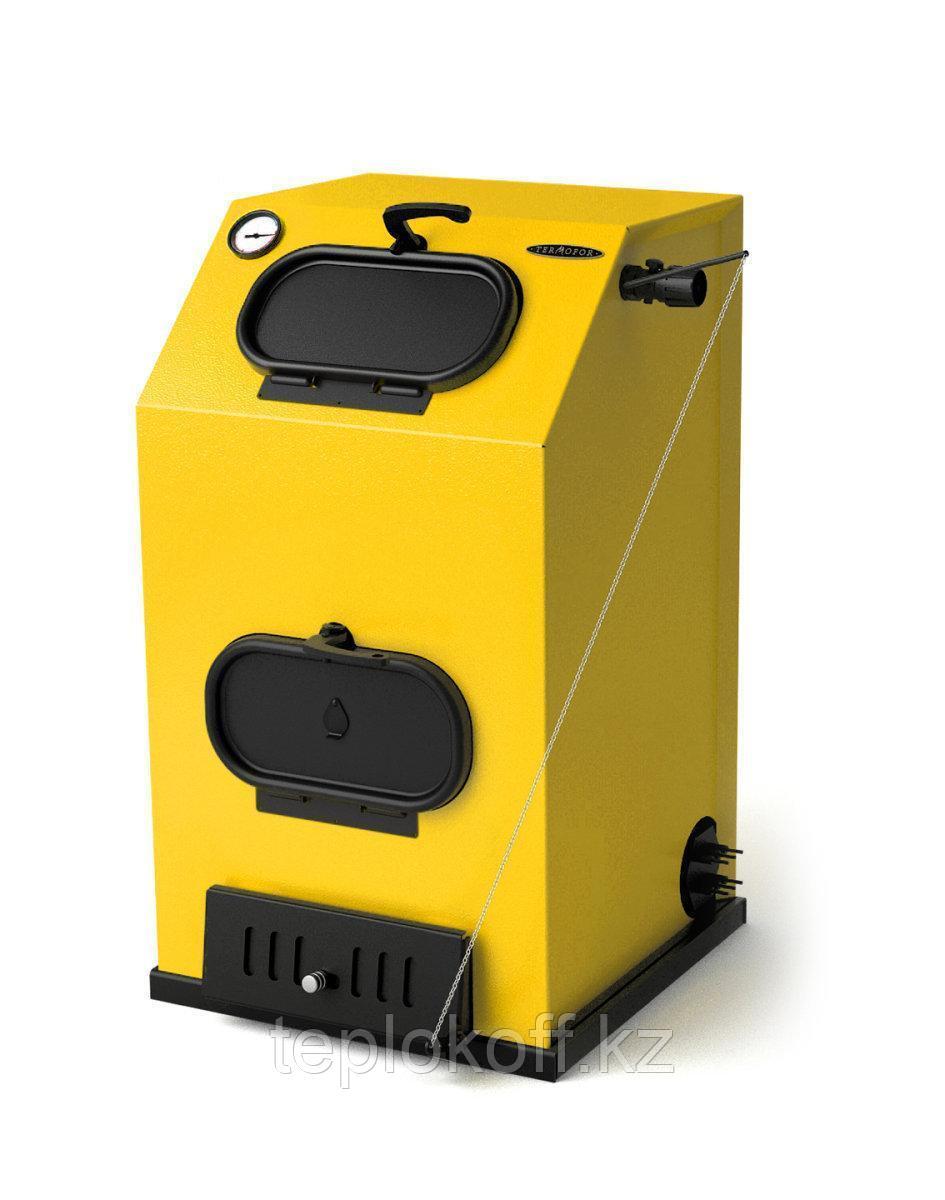 Котел твердотопливный ТМФ Прагматик Электро, 30 кВт, АРТ, ТЭН 12 кВт, желтый
