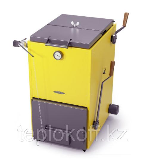 Котел твердотопливный ТМФ Цельсий Автоматик 16 кВт АРТ, ТЭН 6 кВт, желтый