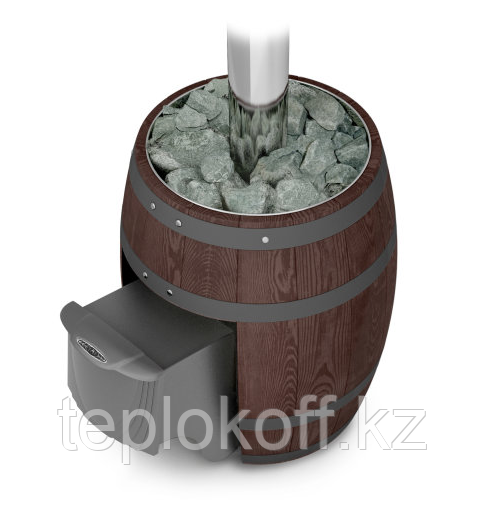 Печь для бани чугунная ТМФ Вариата Cast ДА Баррель палисандр