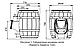 Печь для бани чугунная ТМФ Вариата Cast ДА Баррель палисандр, фото 4