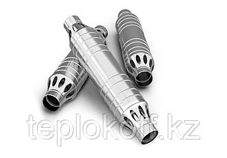 Дымоход-конвектор ТМФ РЭМБО нерж 1,0мм/0,8мм ф115мм L=1м