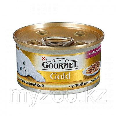 Gourmet Gold, Гурмэ Голд кусочки с уткой и индейкой, уп 24*85 гр.