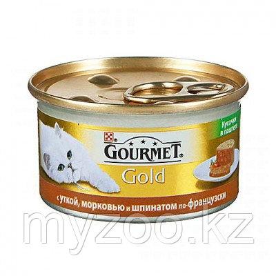 Gourmet Gold, Гурмэ Голд кусочки в паштете с уткой, морковью и шпинатом по-французски, уп. 24 шт * 85гр.