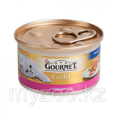 Gourmet Gold, Гурмэ Голд паштет с говядиной, баночка 85 гр.