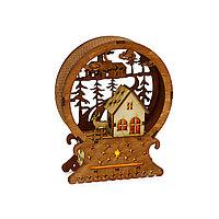 Деревянный светильник «Новогодние вечера»