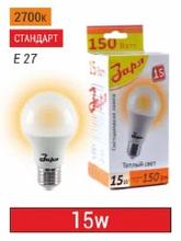 Лампа светодиодная 15Вт, А60, Е27, 2700-4000-6500К