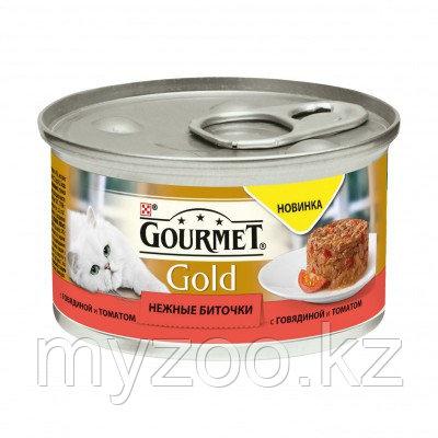 Gourmet Gold, Гурмэ Голд нежные биточки, говядина с томатами, уп.24*85 гр.