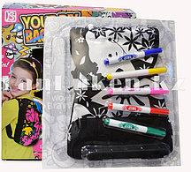 """Набор для творчества """"Рюкзак раскраска Цветы"""" для девочек, цветные фломастеры"""