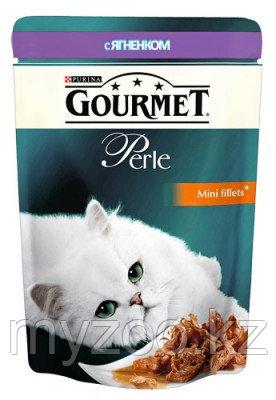 Gourmet Perle Mini Fillets Lamb in Sauce, Гурмэ Перл нежные кусочки ягненка в соусе, пауч 85 гр.