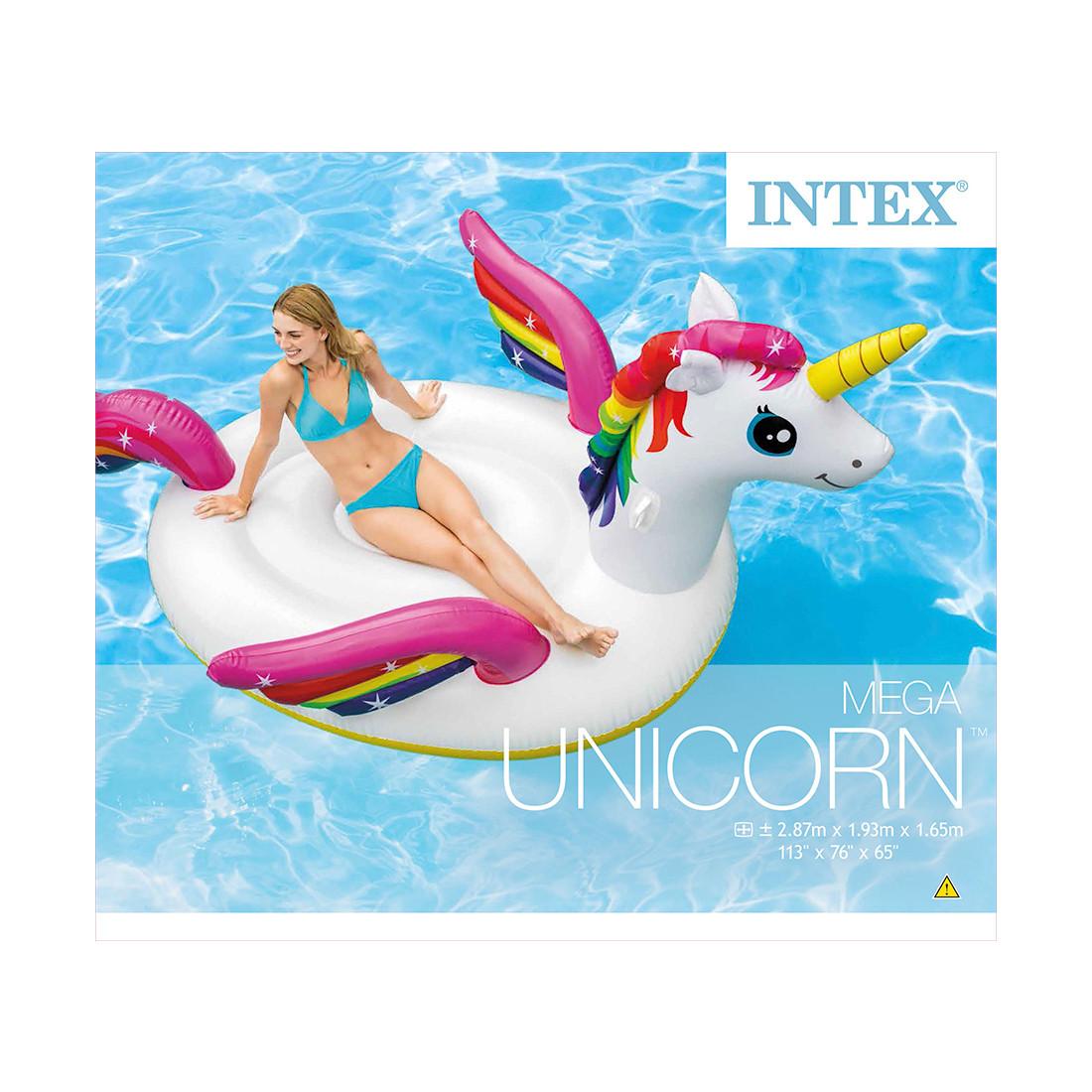 Надувная игрушка Intex 57281EU в форме единорога для плавания большая