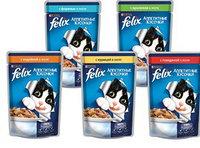 Felix, Феликс кусочки с курицей в желе для кошек, уп. 24*пауч 85гр