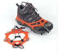 Ледоступы Veriga Crampons Mount Track размер 36-46 (кошки, ледоходы цепные для восхождения) черные/оранжевые