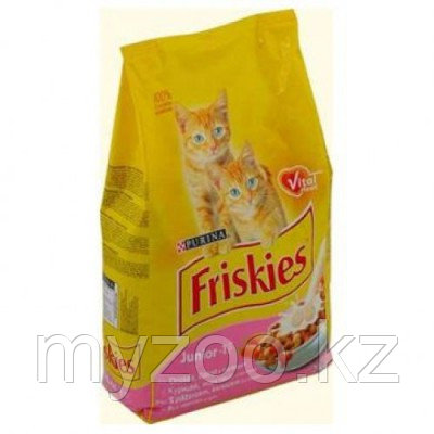 Friskies, Фрискис сухой корм для котят с курицей, уп.2кг.
