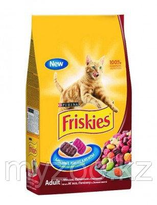Friskies, Фрискис сухой корм для кошек, мясо, печень, овощи, уп.10кг.