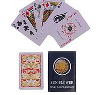"""Карты игральные пластиковые """"Sun Flower"""", 54 шт, 27 мкм, 8.8×5.8 см, микс, фото 1"""