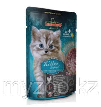 Leonardo Kitten Poultry pouch, Леонардо мусс для котят, пауч 85гр.