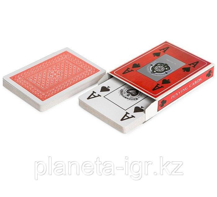 """Карты для покера """"4 Aces"""", пластиковое покрытие, красная рубашка"""