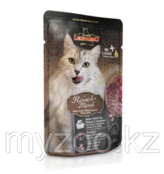 Leonardo Finest Selection Meat Menu, Леонардо влажный корм для кошек мясное меню, пауч 85гр.