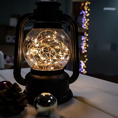 Новогодняя лампа - фонарь