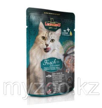 Leonardo Finest Selection Fish & Shrimp, Леонардо влажный корм для кошек с креветками и рыбой, пауч 85гр.