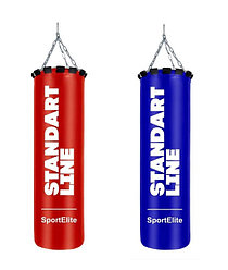 Мешок боксерский SportElite STANDART LINE 60см, d-26, 15кг, красный, синий