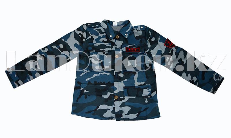 Костюм военный детский камуфляжный синий - фото 2