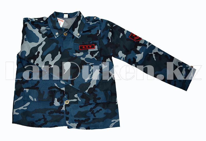 Костюм военный детский камуфляжный синий - фото 4