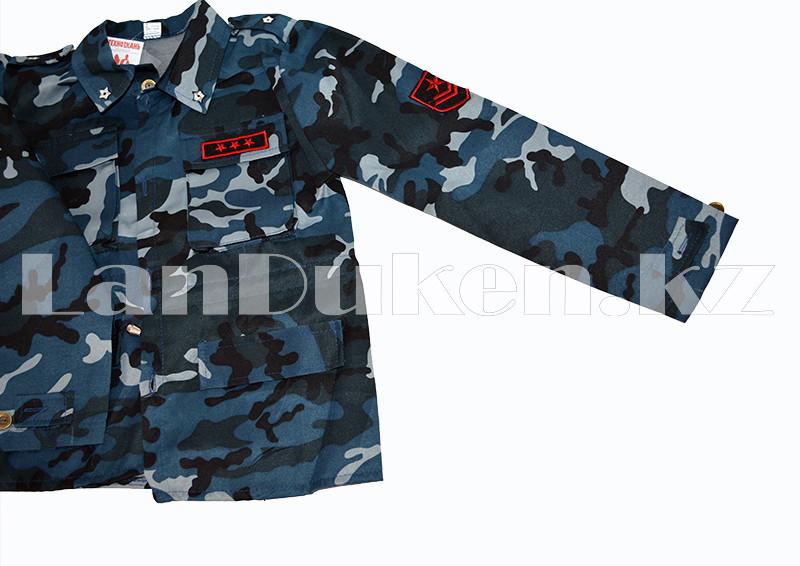 Костюм военный детский камуфляжный синий - фото 5