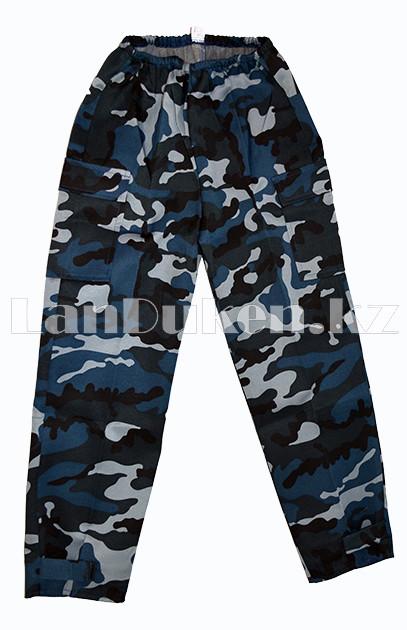 Костюм военный детский камуфляжный синий - фото 6