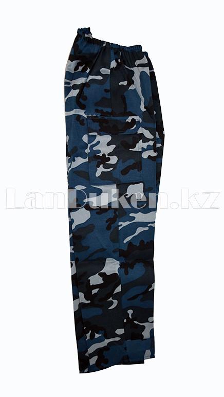 Костюм военный детский камуфляжный синий - фото 7