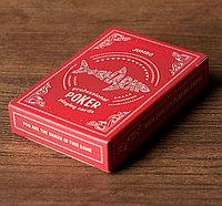 """Игральные карты """"Shark"""" для покера, 54 шт. в колоде, красная рубашка, jumbo index, фото 1"""
