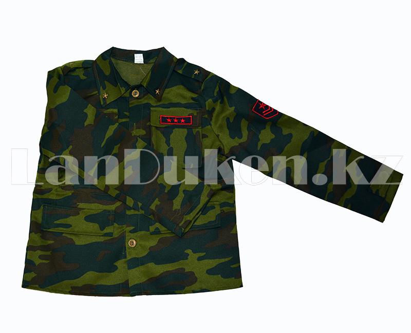 Костюм военный детский камуфляжный зеленый - фото 4