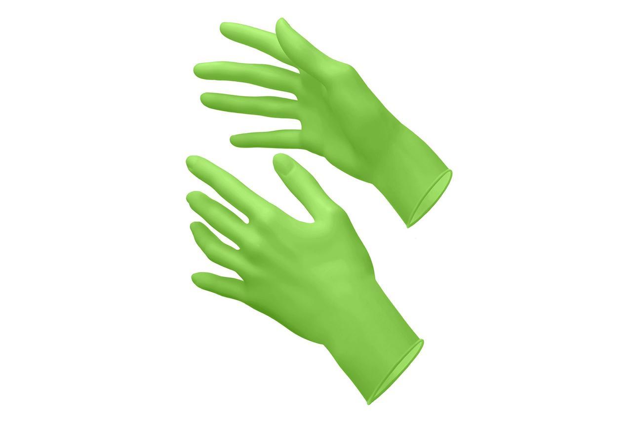 UNEX Перчатки нитрил смотровые, нестерильные МЯТНЫЕ 50 пар размеры XS,S,M,L.