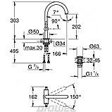 Grohe Atrio Смеситель для раковины двухвентильный, DN 15 L-SIZE 21022003, фото 2