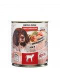 Bewi Dog Veal, влажный корм из телятины, с 12 месяцев банка 800гр.