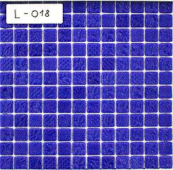 Перламутровая мозаичная плитка синяя