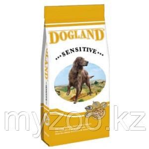 Dogland Sensitive, для взрослых привередивых собак с ягненком, уп.15кг.