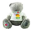 Мягкая Игрушка Мишка Тедди кудрявый мех 60 см ( серый )